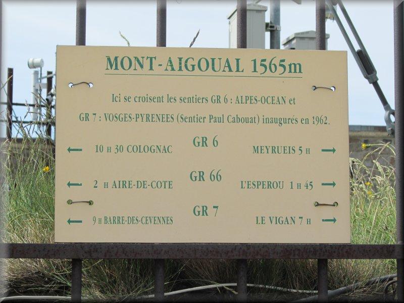 Les GR au Mont Aigoual