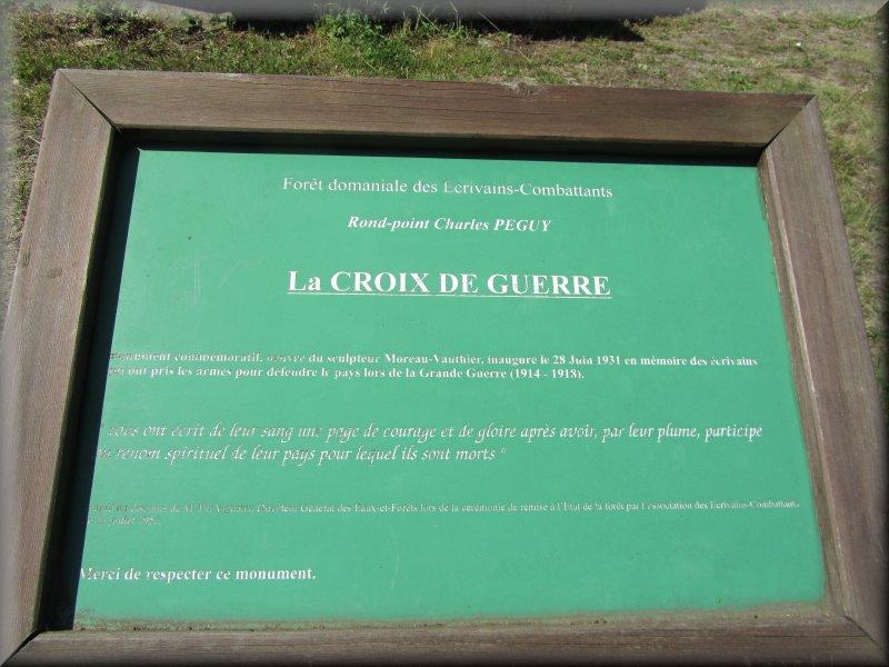 Croix de Guerre, Mémorial des Ecrivains Combattants