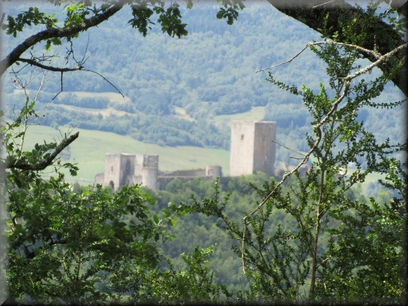 Vue sur le Château de Puivert