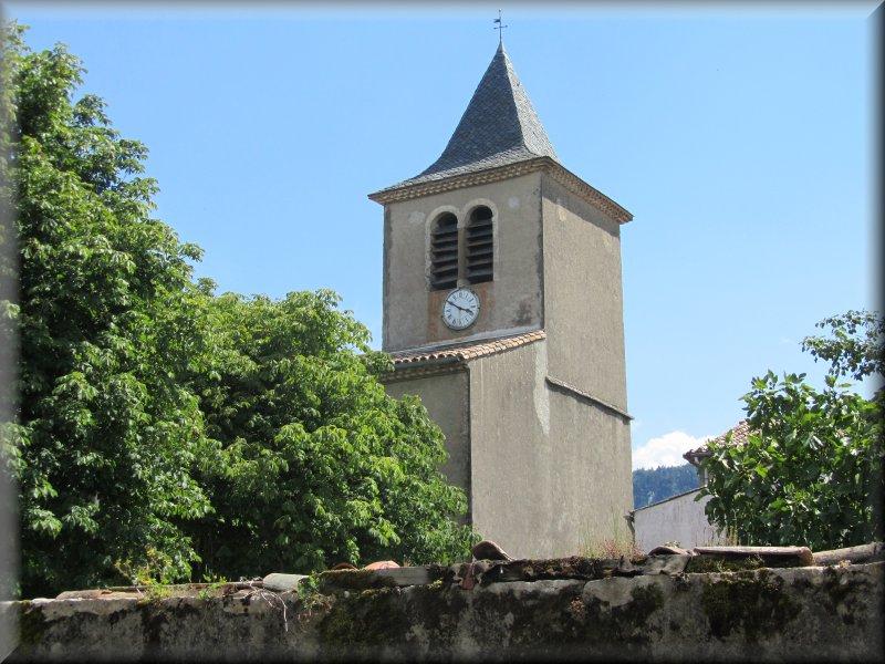 Le Clocher de l'Eglise de Nébias