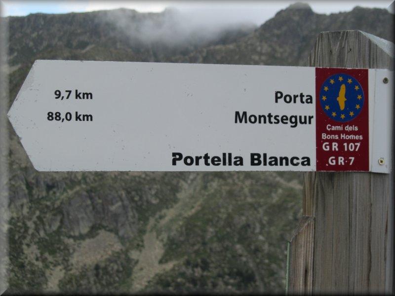 Balisage à la Portella Blanca d'Andorra