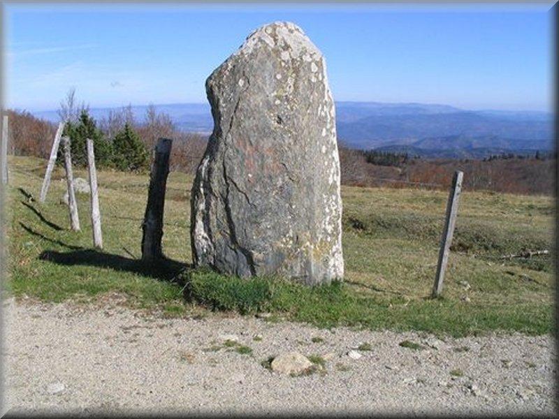 Un Menhir à la Sortie du Sentier des Botanistes